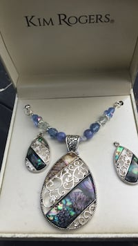 silver and blue gemstone necklace Norman Park, 31771
