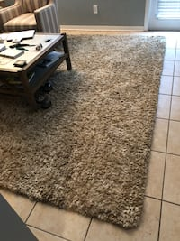 Wheat and cream area rug. Thick pile. WINDERMERE