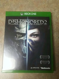 Dishonored 2 Xbox One game case Calgary, T2P 0G9
