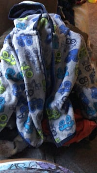 blue, white, and green floral textile Clearfield, 84015