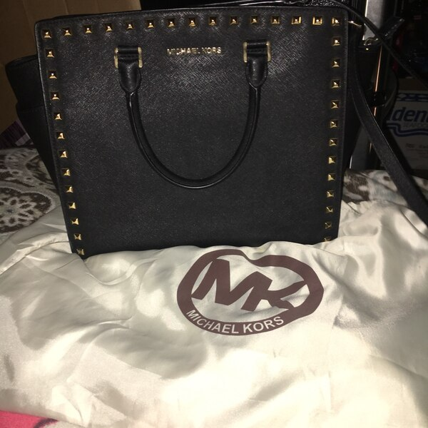 b49938b0b576 Used Large Studded black Selma Michael kors bag for sale in San Jose ...