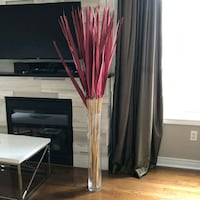 Glass vase and foliage accent combo Markham, L6E 2B6