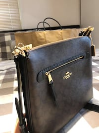 (RESERVED) Coach Mae File Crossbody in Signature Canvas