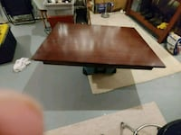 rectangular brown wooden table with stainless stee Manassas, 20112
