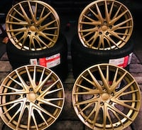 Gold rims with Atlas tires Hollywood, 33020