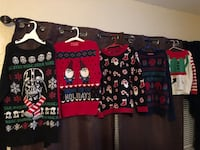 assorted-color Christmas-themed sweater lot