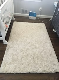 Cream shag rug 4'x6' includes rug oad Arlington, 22205