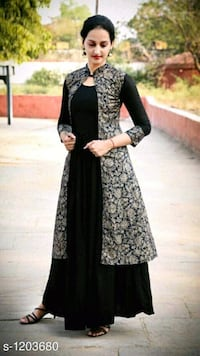 women's black and gray long sleeve dress Delhi, 110086