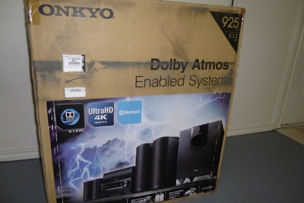 Unopened Onkyo 5 Channel Atmos RECEIVER & 6 SPEAKER Home Theater Package