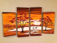 4 Panels, painting  on canvas, BRAND NEW Mississauga, L5L 2S5
