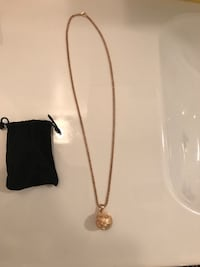 Rose gold basketball pendant necklace