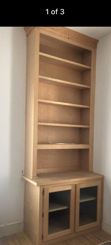 Solid Wood Bookcase And Base 150 Obo