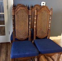 Vintage High Back Cane Side Dining Chairs- set of 4 Wheat Ridge, 80033