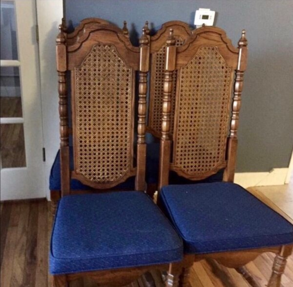Used Vintage High Back Cane Side Dining Chairs Set Of 4 For In Wheat Ridge Letgo
