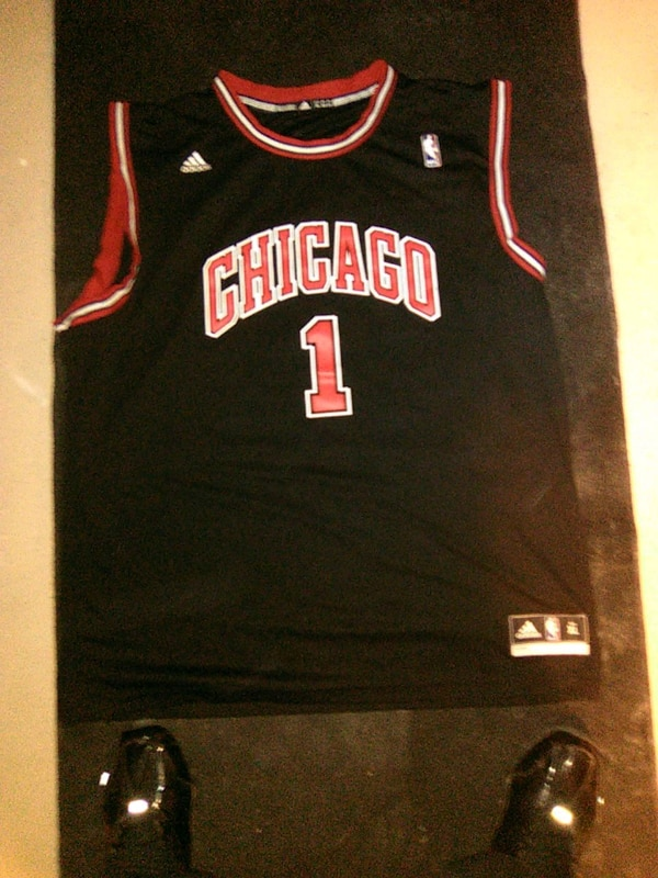 separation shoes 6b311 7b18c black and red chicago bulls Jersey,1, Rose