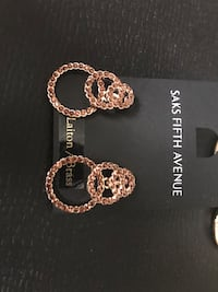 Earrings (Saks 5th Avenue) made with brass Montréal, H3W 1K6