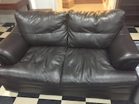 Loveseat Leather Brown Woodbridge, 22191