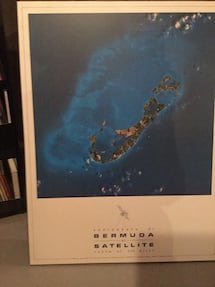 Bermuda from space mounted photo, great gift