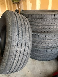 tire set of 4. 265/70R16. Came off Toyota Tacoma, only 15k miles! 1470 mi