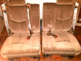 two brown  car seats