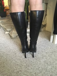 Black leather boots Langley, V3A 2R8