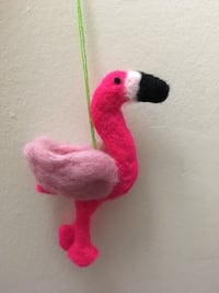 Hand felted flamingo, adorable for kids room  23 mi