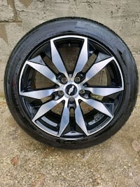 Four 18 inch Continental Tires and rims for sale  Barrie