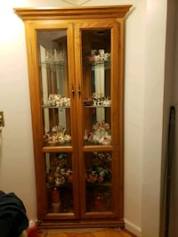 BEAUTIFUL CORNER CABINET with Glass Shelves and Li Ingleside, 60041