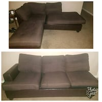 brown suede sectional couch collage Clovis, 93612