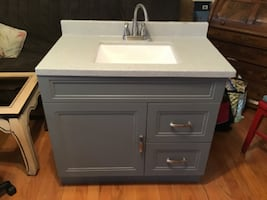 36 inch base Bathroom cabinet, Sink, Faucet-New