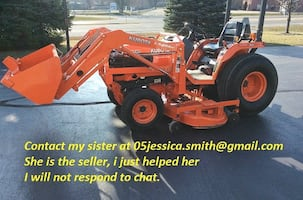 """Diesel2001 Kubota B2710HST 4x4 tractor has roughly 320 hours on the meter. 72"""" mid-mount mower It's awesome and super easy to operate"""