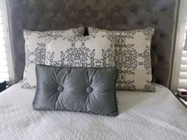 Headboard, Bedding and Drapery