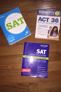 Sat and act study/prep books Sterling, 20165