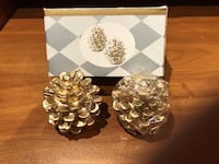 Gold Pinecone Candles Markham