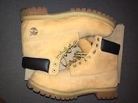 pair of brown Timberland work boots Toronto, M9V 4S4