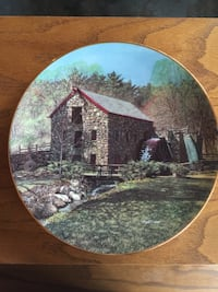 Mill decorative plate Falling Waters, 25419