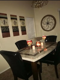 rectangular brown wooden table with four chairs dining set Washington, 20024