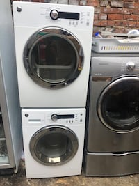 white front-load washer and dryer set Wallington, 07057