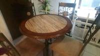 Dining table with 4 chairs and side table living room table