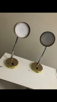 two black-and-white table lamps 54 mi