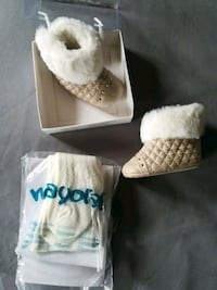 Newborn booties and white tights  New Tecumseth, L9R 1E3