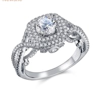 2.4 Ct Round CZ Solid 925 Sterling Silver Wedding Ring Classic Jewelry For Women  Mississauga, L5J 2B6