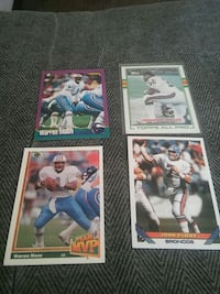 four assorted football player trading cards Reynoldsburg, 43068