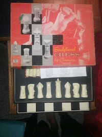 Old Chess Set  Sherman