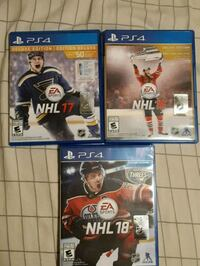 four assorted PS4 game cases Oakville
