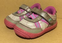 "Grey/Pink Stride-Rite Surprize ""Aida"" Velcro Sneakers Fairfield, 94533"
