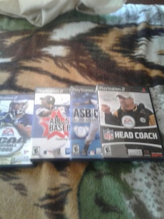four Sony PS2 sports games