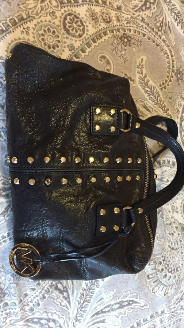 Used MK lapis (navy with gold accessories) satchel bag for sale in ... 20ea53f00edd1