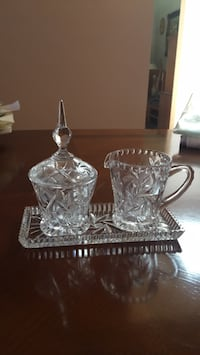 Sugar and creamer and candy dish with lid Toronto, M6B