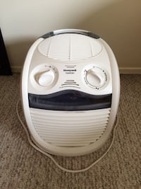 white and gray Honeywell QuietCare cooler
